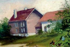 Nedre Frøyhov, malt i 1890 av Sara Moe.