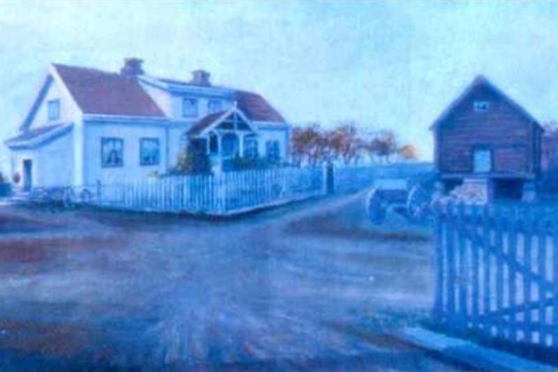 Loftet brant ned på Frøyhov