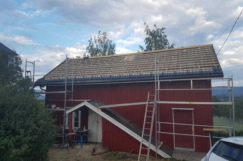 Avretting av gammelt tak